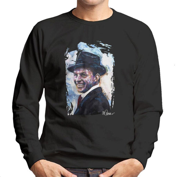 Sidney Maurer Original Portrait Of Frank Sinatra Hat Mens Sweatshirt - Mens Sweatshirt