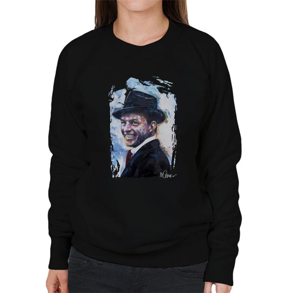 Sidney Maurer Original Portrait Of Frank Sinatra Hat Womens Sweatshirt - Womens Sweatshirt