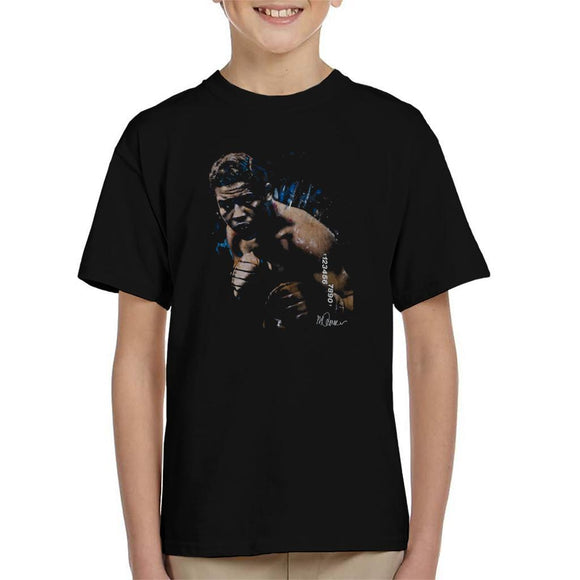 Sidney Maurer Original Portrait Of Joe Louis Kids T-Shirt - Kids Boys T-Shirt