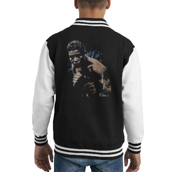 Sidney Maurer Original Portrait Of Joe Louis Kids Varsity Jacket - Kids Boys Varsity Jacket