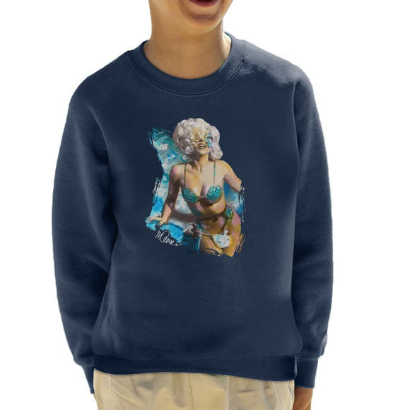 Sidney Maurer Original Portrait Of Lady Gaga Sea Shell Bikini Kids Sweatshirt - Kids Boys Sweatshirt
