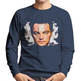 Sidney Maurer Original Portrait Of Leonardo DiCaprio Closeup Mens Sweatshirt - Mens Sweatshirt
