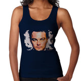 Sidney Maurer Original Portrait Of Leonardo DiCaprio Closeup Womens Vest - Small / Navy Blue - Womens Vest