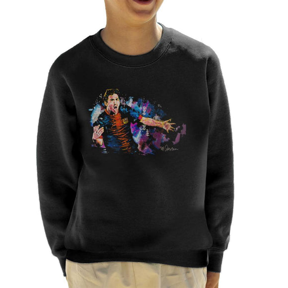 Sidney Maurer Original Portrait Of Lionel Messi FCB Badge Kids Sweatshirt - Kids Boys Sweatshirt