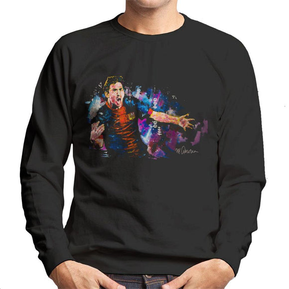 Sidney Maurer Original Portrait Of Lionel Messi FCB Badge Mens Sweatshirt - Mens Sweatshirt