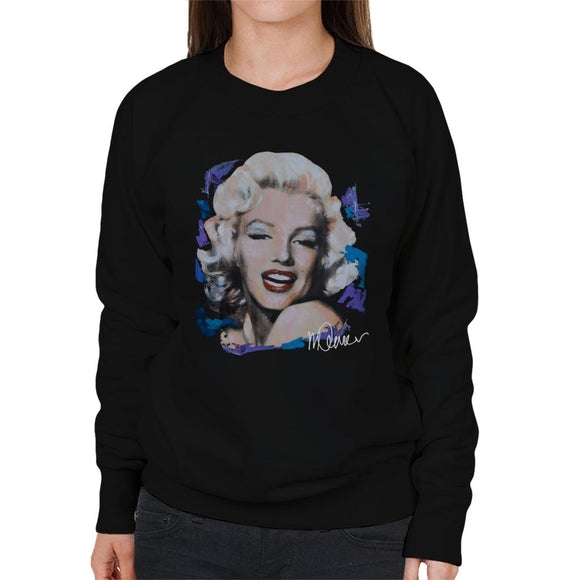 Sidney Maurer Original Portrait Of Marilyn Monroe Red Lips Women's Sweatshirt