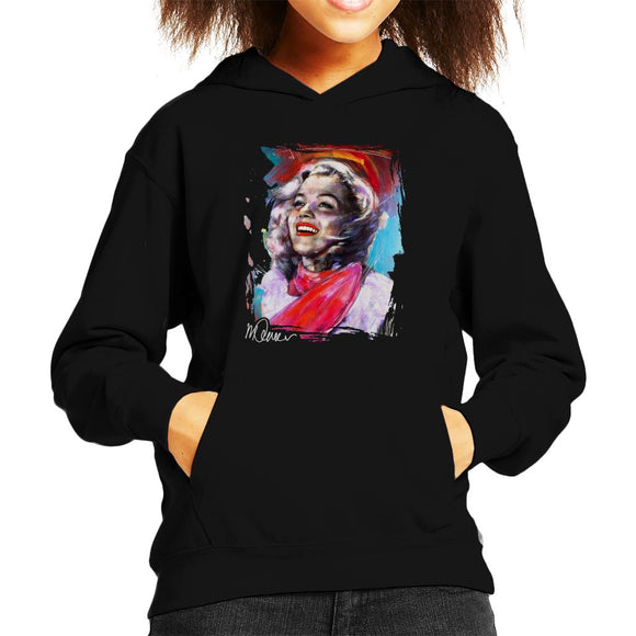 Sidney Maurer Original Portrait Of Marilyn Monroe Scarf Kid's Hooded Sweatshirt