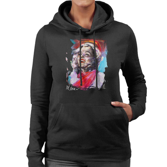 Sidney Maurer Original Portrait Of Marilyn Monroe Scarf Women's Hooded Sweatshirt