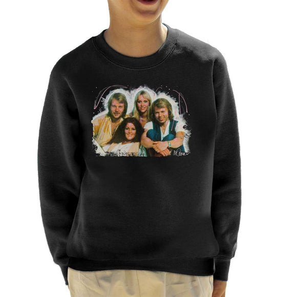 Sidney Maurer Original Portrait Of Abba Angel Eyes Cover Kids Sweatshirt - Kids Boys Sweatshirt