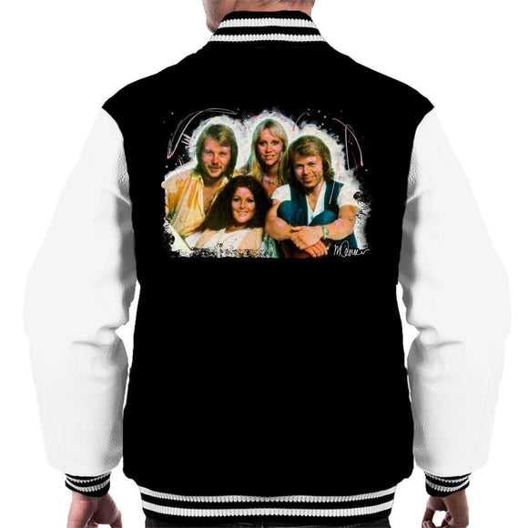 Sidney Maurer Original Portrait Of Abba Angel Eyes Cover Mens Varsity Jacket - Mens Varsity Jacket