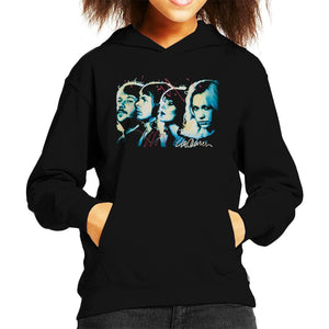 Sidney Maurer Original Portrait Of Abba Side Profile Kids Hooded Sweatshirt - Kids Boys Hooded Sweatshirt