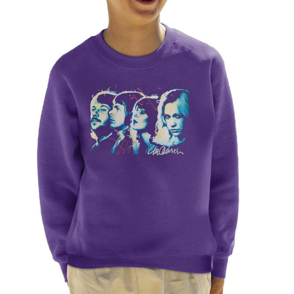 Sidney Maurer Original Portrait Of Abba Side Profile Kids Sweatshirt - Kids Boys Sweatshirt