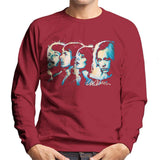 Sidney Maurer Original Portrait Of Abba Side Profile Mens Sweatshirt - Small / Cherry Red - Mens Sweatshirt