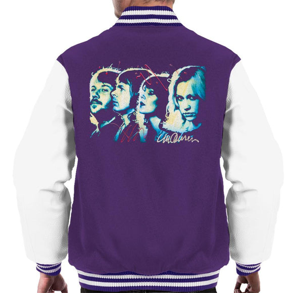 Sidney Maurer Original Portrait Of Abba Side Profile Mens Varsity Jacket - Mens Varsity Jacket