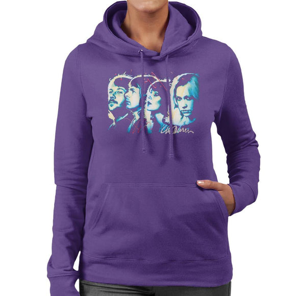 Sidney Maurer Original Portrait Of Abba Side Profile Womens Hooded Sweatshirt - Womens Hooded Sweatshirt