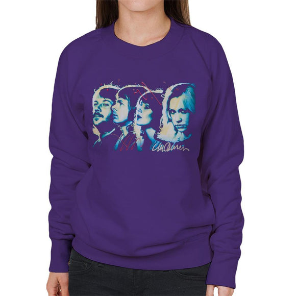 Sidney Maurer Original Portrait Of Abba Side Profile Womens Sweatshirt - Womens Sweatshirt