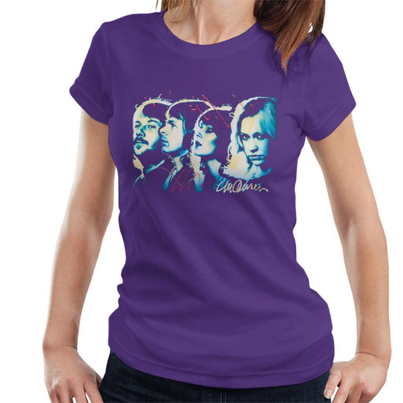 Sidney Maurer Original Portrait Of Abba Side Profile Womens T-Shirt - Womens T-Shirt