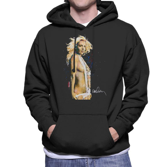 Sidney Maurer Original Portrait Of Britney Spears Necklaces Mens Hooded Sweatshirt - Mens Hooded Sweatshirt