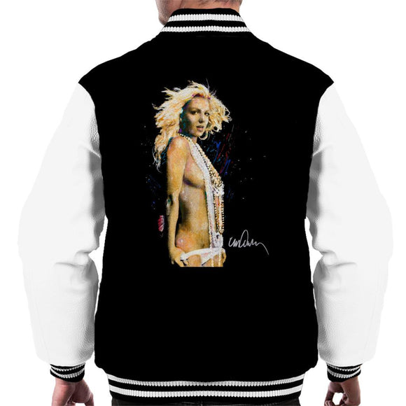 Sidney Maurer Original Portrait Of Britney Spears Necklaces Mens Varsity Jacket - Mens Varsity Jacket