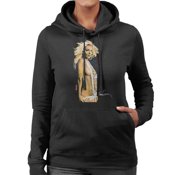 Sidney Maurer Original Portrait Of Britney Spears Necklaces Womens Hooded Sweatshirt - Womens Hooded Sweatshirt