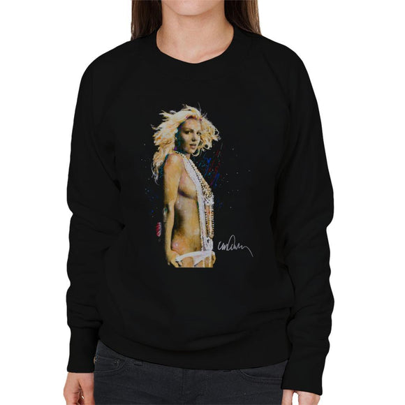 Sidney Maurer Original Portrait Of Britney Spears Necklaces Womens Sweatshirt - Womens Sweatshirt