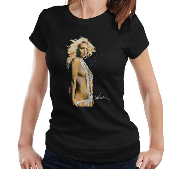 Sidney Maurer Original Portrait Of Britney Spears Necklaces Womens T-Shirt - Womens T-Shirt
