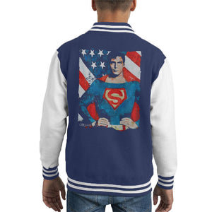 Sidney Maurer Original Portrait Of Superman Christopher Reeve Kids Varsity Jacket - Kids Boys Varsity Jacket