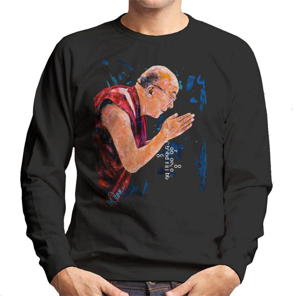 Sidney Maurer Original Portrait Of The Dalai Lama Mens Sweatshirt - Mens Sweatshirt