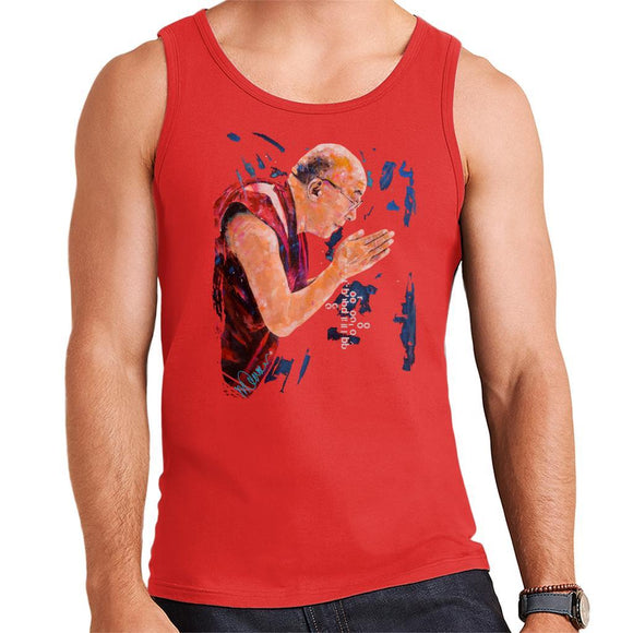Sidney Maurer Original Portrait Of The Dalai Lama Mens Vest - Mens Vest