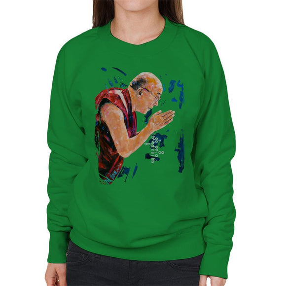 Sidney Maurer Original Portrait Of The Dalai Lama Womens Sweatshirt - Womens Sweatshirt