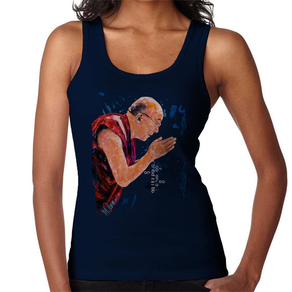 Sidney Maurer Original Portrait Of The Dalai Lama Womens Vest - Womens Vest