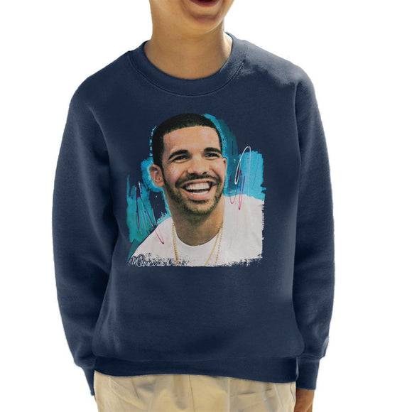 Sidney Maurer Original Portrait Of Drake Smiling Kids Sweatshirt - Kids Boys Sweatshirt