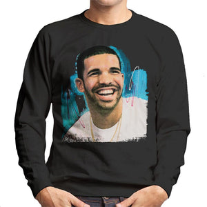 Sidney Maurer Original Portrait Of Drake Smiling Mens Sweatshirt - Mens Sweatshirt