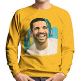 Sidney Maurer Original Portrait Of Drake Smiling Mens Sweatshirt - Small / Gold - Mens Sweatshirt