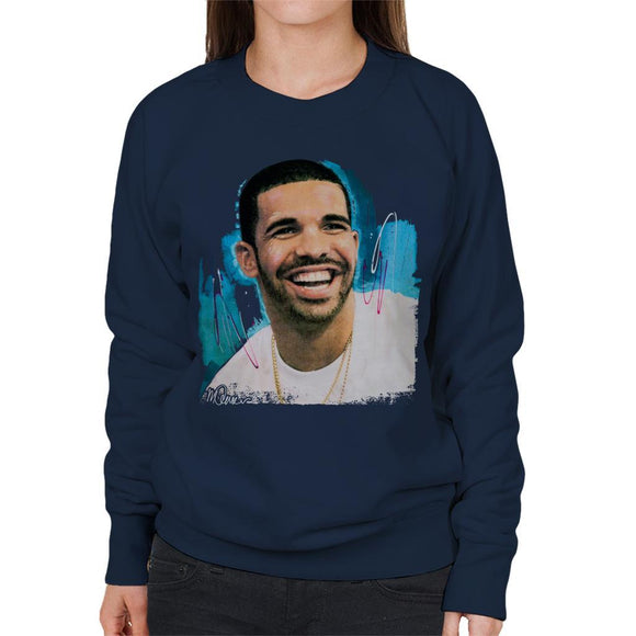 Sidney Maurer Original Portrait Of Drake Smiling Womens Sweatshirt - Womens Sweatshirt