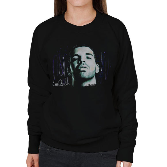 Sidney Maurer Original Portrait Of Drake OVOXO Womens Sweatshirt - Womens Sweatshirt