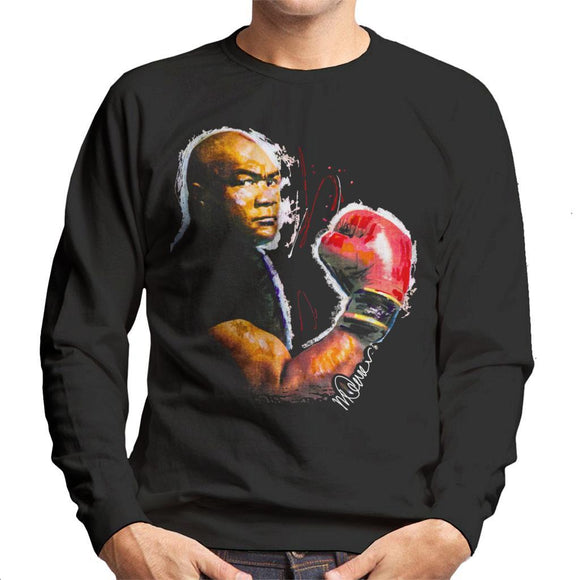 Sidney Maurer Original Portrait Of George Foreman Mens Sweatshirt - Mens Sweatshirt