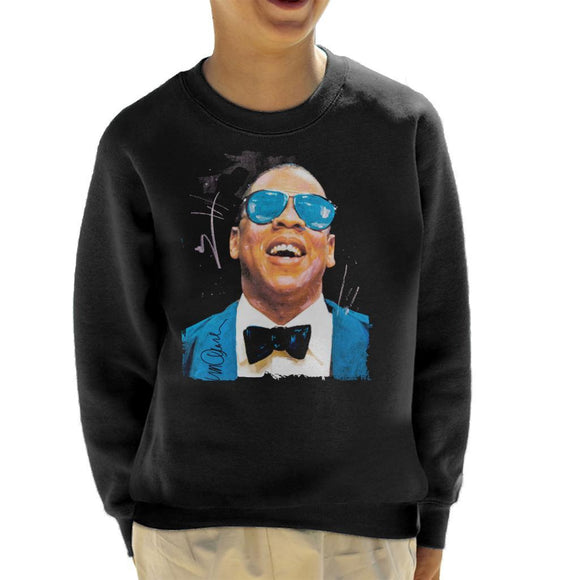 Sidney Maurer Original Portrait Of Jay Z Blue Tux Kids Sweatshirt - Kids Boys Sweatshirt