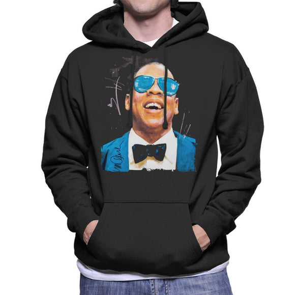 Sidney Maurer Original Portrait Of Jay Z Blue Tux Mens Hooded Sweatshirt - Mens Hooded Sweatshirt