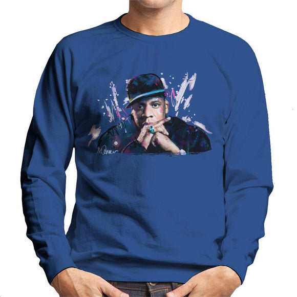 Sidney Maurer Original Portrait Of Jay Z The Black Album Mens Sweatshirt - Mens Sweatshirt