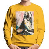 Sidney Maurer Original Portrait Of Kate Moss Nude Mens Sweatshirt - Small / Gold - Mens Sweatshirt