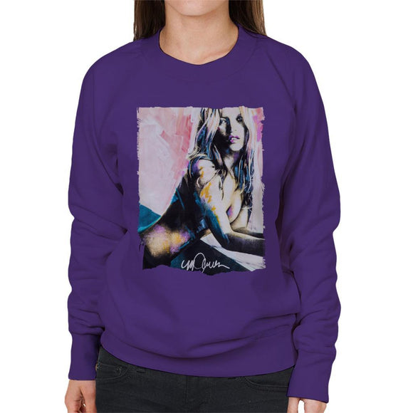 Sidney Maurer Original Portrait Of Kate Moss Nude Womens Sweatshirt - Womens Sweatshirt