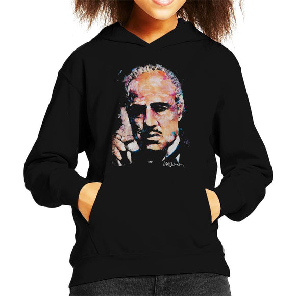 Sidney Maurer Original Portrait Of Marlon Brando Kids Hooded Sweatshirt - Kids Boys Hooded Sweatshirt