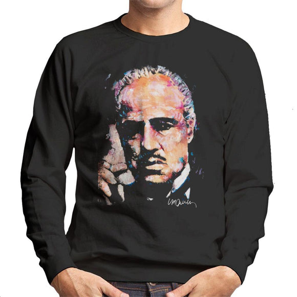 Sidney Maurer Original Portrait Of Marlon Brando Mens Sweatshirt - Mens Sweatshirt