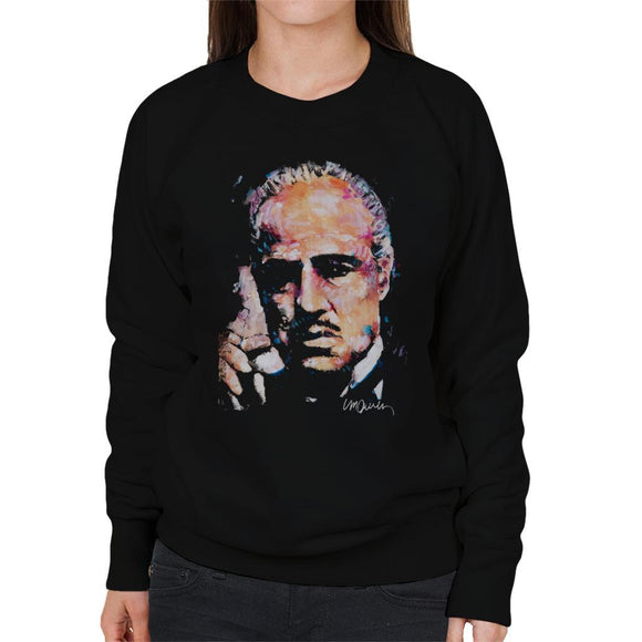 Sidney Maurer Original Portrait Of Marlon Brando Womens Sweatshirt - Womens Sweatshirt