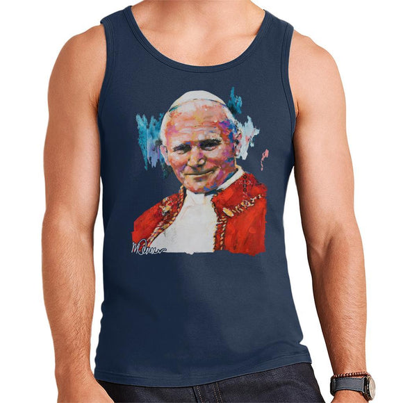 Sidney Maurer Original Portrait Of Pope John Paul II Mens Vest - Mens Vest