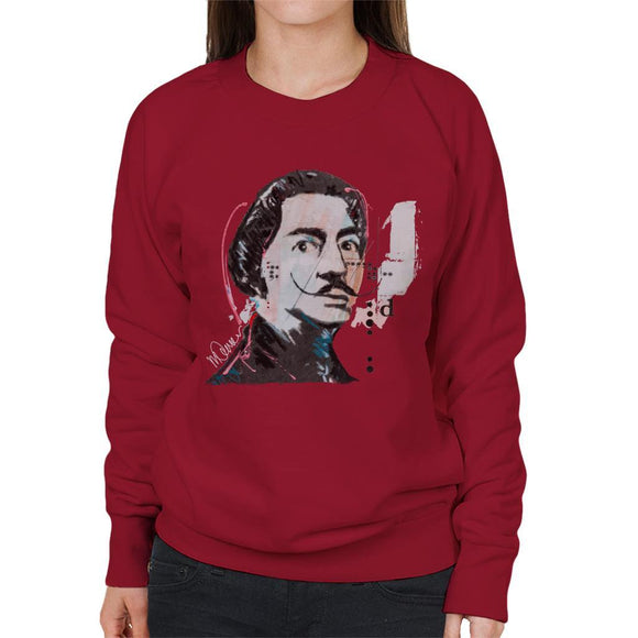 Sidney Maurer Original Portrait Of Salvador Dali Womens Sweatshirt - Womens Sweatshirt