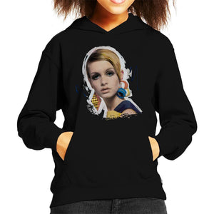 Sidney Maurer Original Portrait Of Twiggy Kids Hooded Sweatshirt - Kids Boys Hooded Sweatshirt