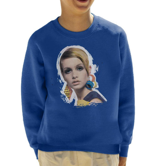 Sidney Maurer Original Portrait Of Twiggy Kids Sweatshirt - Kids Boys Sweatshirt