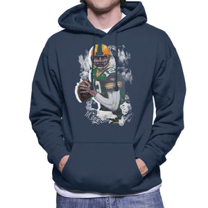 Sidney Maurer Original Portrait Of Aaron Rodgers Men's Hooded Sweatshirt